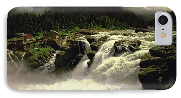Norwegian Waterfall IPhone Case