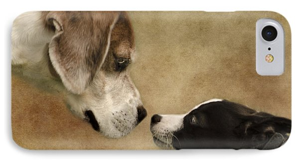 Nose To Nose Dogs Phone Case by Linsey Williams