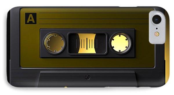 Nostalgic Macro Cassette Tape Phone Case by Allan Swart