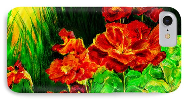 Nosturtiums IPhone Case by Synnove Pettersen