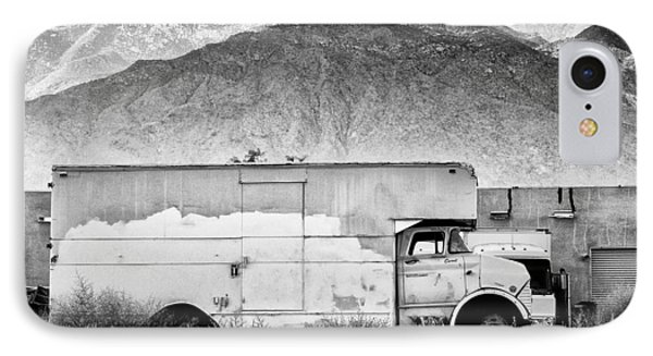 Not In Service Bw Palm Springs IPhone Case