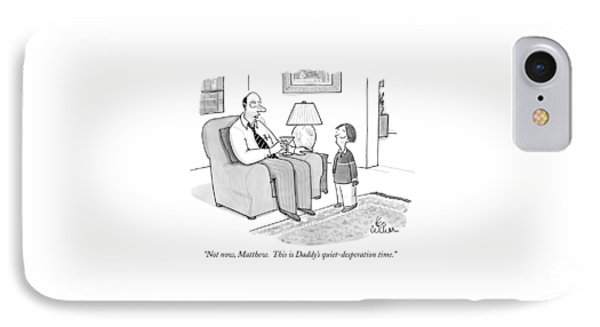 Not Now, Matthew.  This Is Daddy's IPhone Case by Leo Cullum