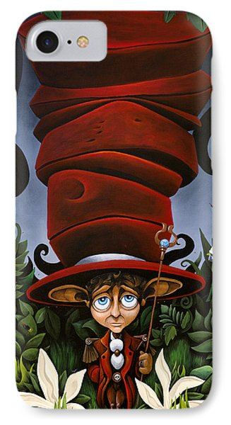 Not So Mad Hatter IPhone Case by Dion Weichers