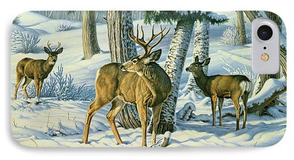 Not This Year - Mule Deer IPhone Case by Paul Krapf