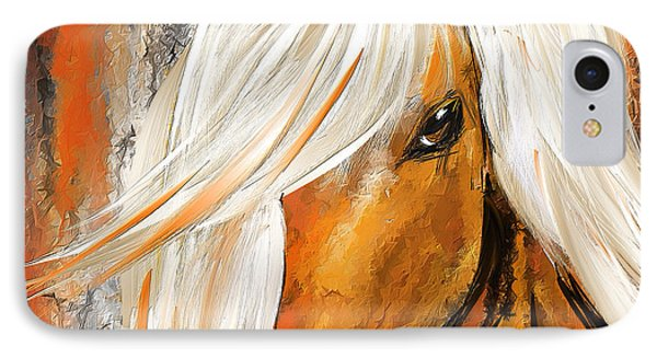 Not Your Ordinary- Colorful Horse- White And Brown Paintings IPhone Case by Lourry Legarde