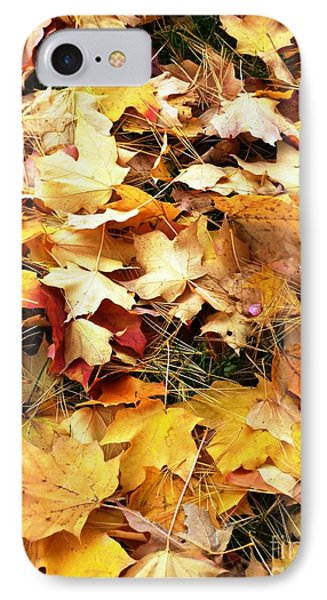 IPhone Case featuring the photograph Nothing But Leaves by Mike Ste Marie