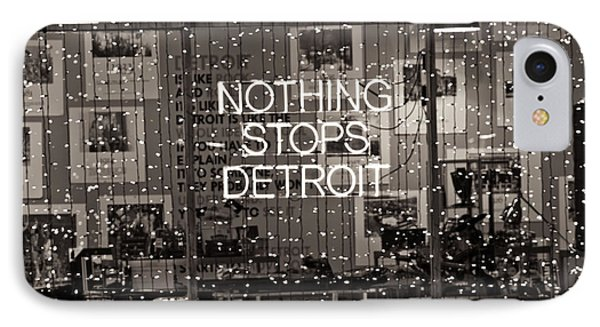 Nothing Stops Detroit  IPhone Case by John McGraw