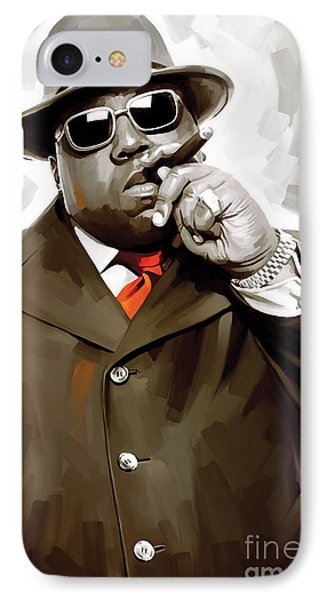 Notorious Big - Biggie Smalls Artwork 3 IPhone Case by Sheraz A