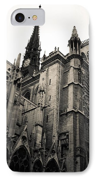 Notre Dame - For Eugene Atget IPhone Case by Ross Henton