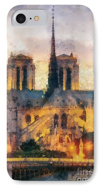 Notre Dame De Paris IPhone Case by Mo T