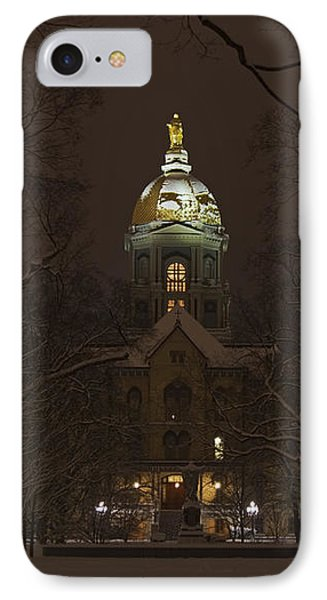 Notre Dame Golden Dome Snow IPhone Case