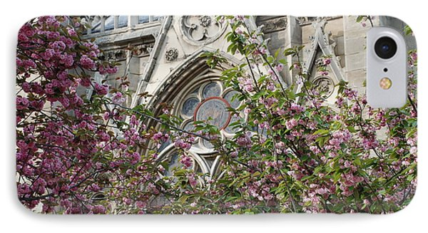 Notre Dame In April IPhone Case by Jennifer Ancker