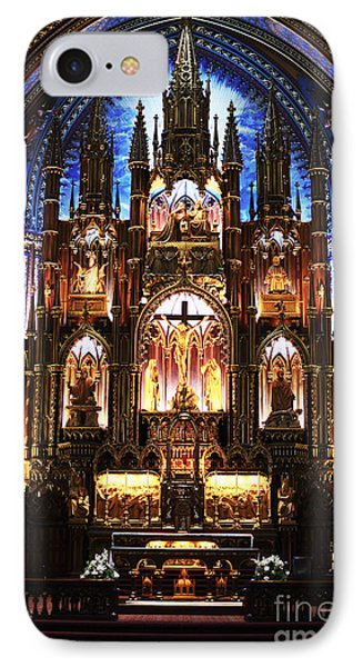 Notre Dame Interior Phone Case by John Rizzuto
