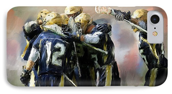 College Lacrosse Celebration  IPhone Case by Scott Melby
