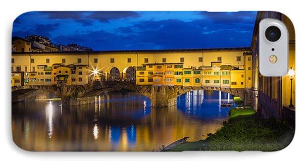 Notte A Ponte Vecchio Phone Case by Inge Johnsson