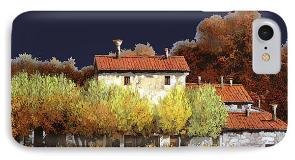 Notte In Campagna IPhone Case by Guido Borelli