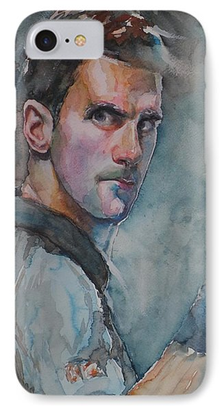 Novak Djokovic - Portrait 1 IPhone Case by Baresh Kebar