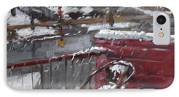 First Snowfall Nov 17 2014 IPhone Case by Ylli Haruni