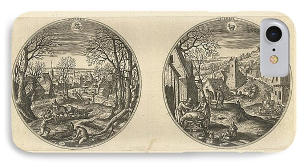 November And December, Adriaen Collaert, Hans Bol IPhone Case