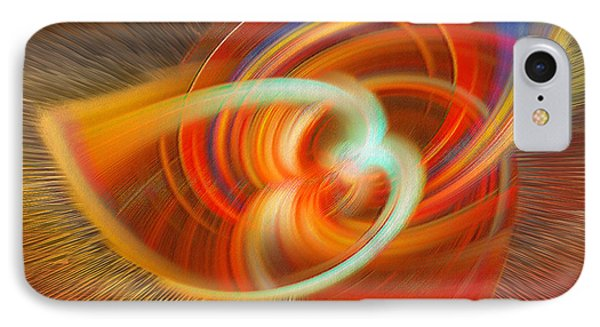November Festive Abstract IPhone Case by Linda Phelps