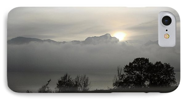 IPhone Case featuring the photograph November Fog Over Moonlake by Menega Sabidussi