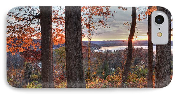 November Morning At The Lake IPhone Case by Jaki Miller