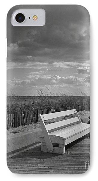 November On The Boardwalk IPhone Case by Arlene Carmel