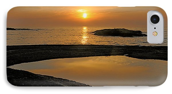 November Sunrise II - Lake Superior Phone Case by Sandra Updyke