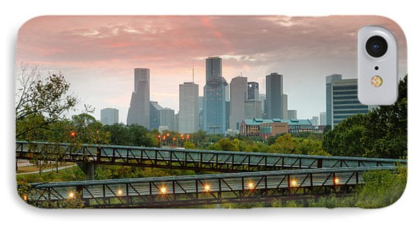 November Sunrise In Downtown Houston IPhone Case by Silvio Ligutti