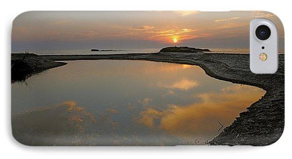 November Sunrise-lake Superior Phone Case by Sandra Updyke