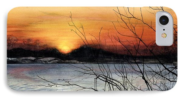 November Sunset Phone Case by Barbara Jewell