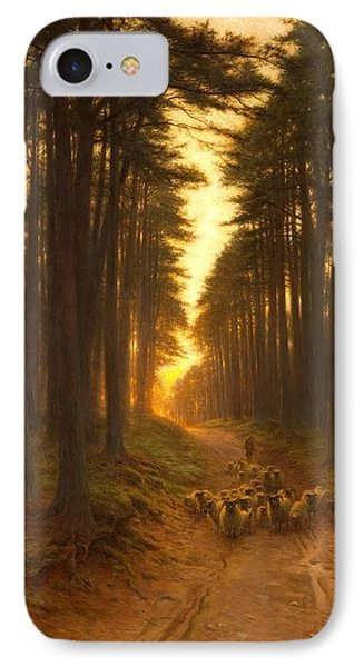 Now Came Still Evening On, Circa 1905 IPhone Case by Joseph Farquharson