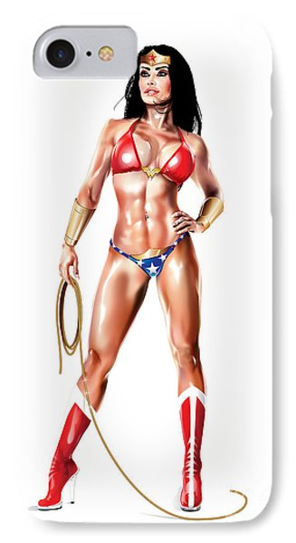Now This Is Wonder Woman IPhone Case by Brian Gibbs