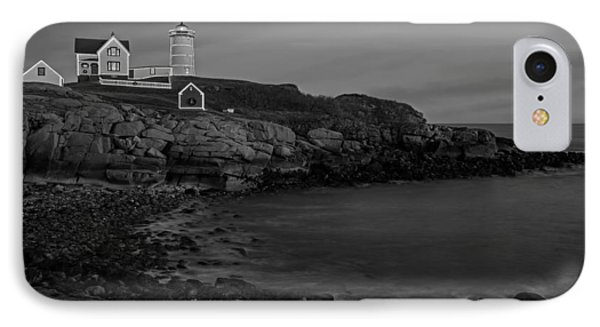 Nubble Light At Sunset Bw Phone Case by Susan Candelario