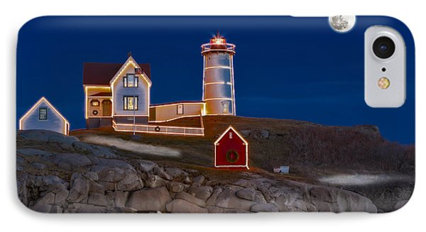 Nubble Light Cape Neddick Lighthouse IPhone Case by Susan Candelario