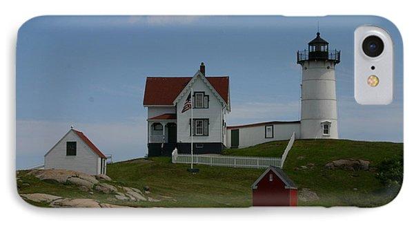 Nubble Light House York Maine IPhone Case by Denyse Duhaime