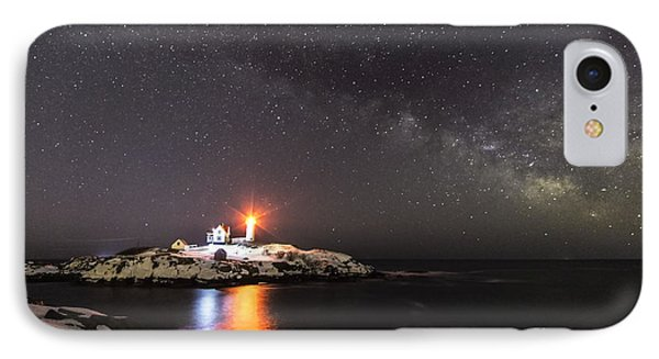 Nubble Light With Milky Way IPhone Case by Patrick Fennell