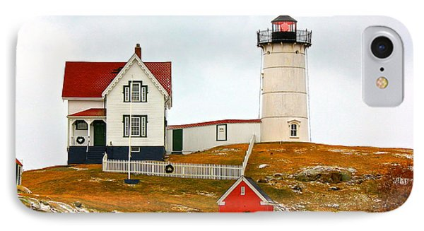 IPhone Case featuring the photograph Nubble Lighthouse by Amazing Jules