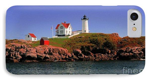 Nubble Lighthouse-cape Neddick Phone Case by Kathleen Struckle