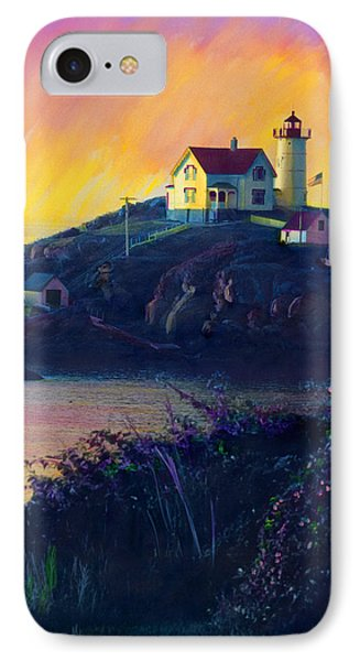 Nubble Lighthouse IPhone Case by Cindy McIntyre