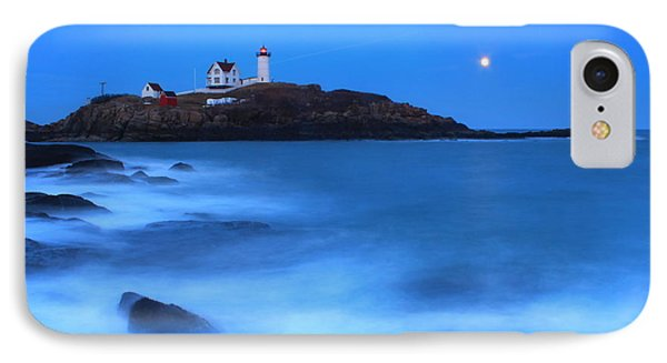 Nubble Lighthouse Full Moon Tide IPhone Case