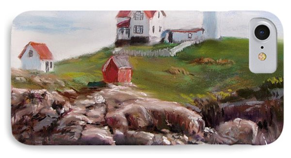 Nubble Lighthouse In Pastel IPhone Case