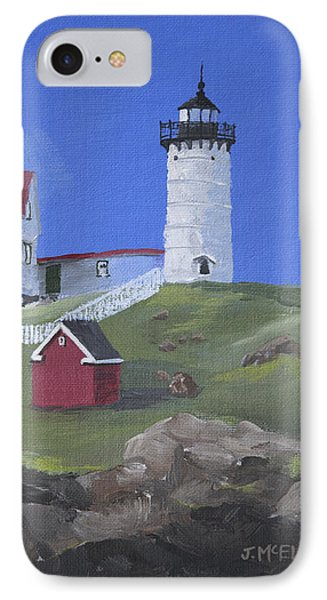 Nubble Lighthouse IPhone Case by Jerry McElroy