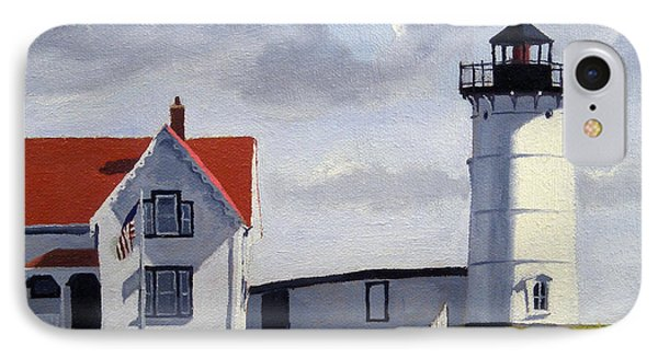 Nubble Lighthouse Maine IPhone Case by Christine Hopkins
