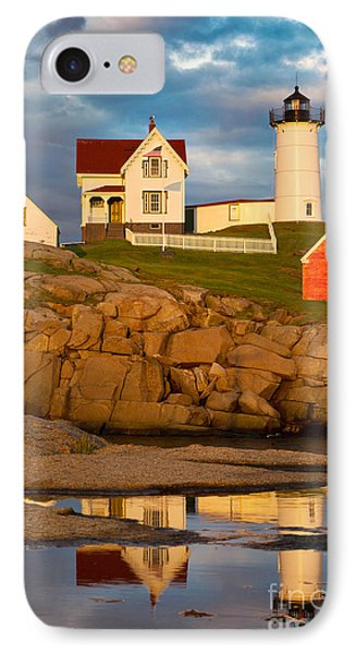 Nubble Lighthouse No 1 IPhone Case by Jerry Fornarotto
