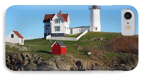 Nubble Lighthouse One Phone Case by Barbara McDevitt