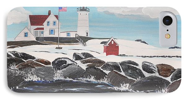 Nubble Lighthouse Phone Case by Sally Rice