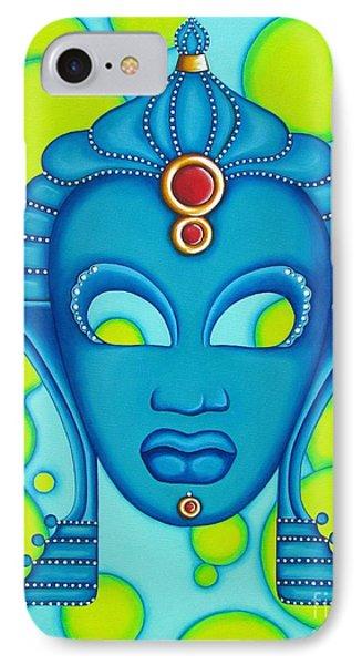 Nubian Modern Mask Blue IPhone Case