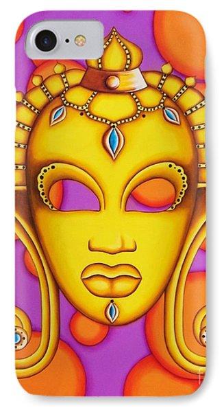 Nubian Modern Mask Gold IPhone Case