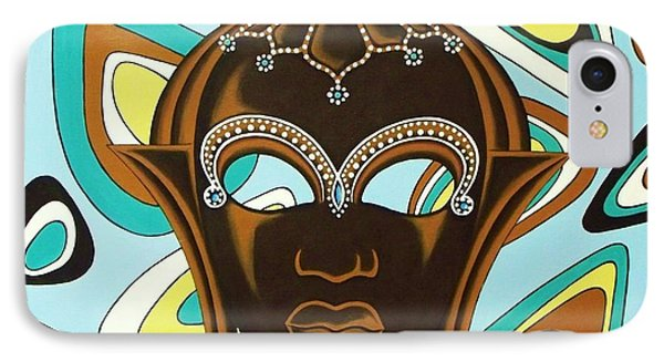 Nubian Modern  Mask IPhone Case